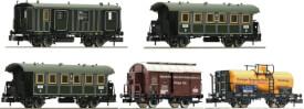 Fleischmann FM864707 N 5-tlg. Wagenset Güterzug mit Personen