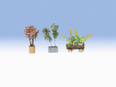 H0 Zierpflanzen in Blumentöpfen