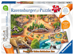 Ravensburger 00051 tiptoi® Puzzle für kleine Entdecker: Zoo 2x12 Teile
