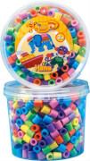 HAMA 8571 Bügelperlen Maxi - Dose Pastell Mix 600 Perlen, 6 Farben, ab 3 Jahren