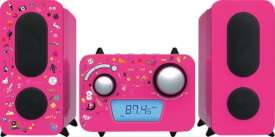 Stereoanlage CD/Radio pink inkl.Aufkleber