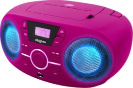 Tragbares CD/Radio mit USB pink