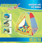 Outdoor active Zelt mit 100 Bällen, 100-teilig, ca. 37x37x21 cm, ab 24 Monaten