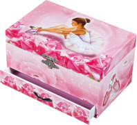 Schmuck Spieldose Tänzerin Rosa